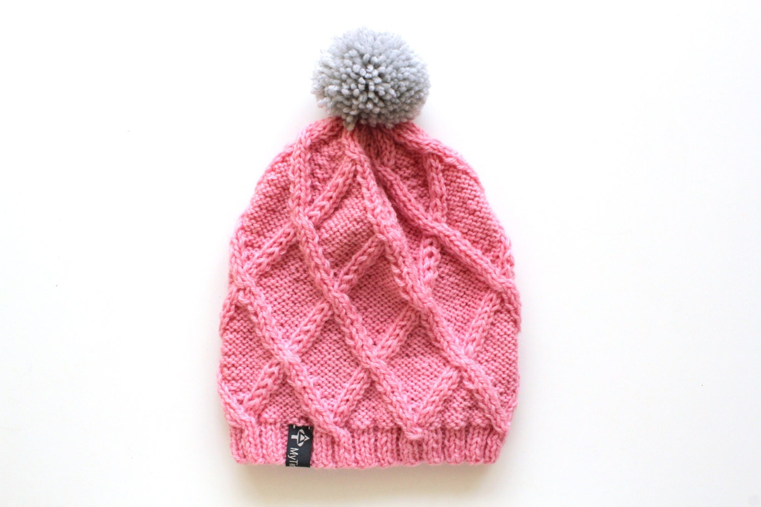 Knitting Women S Hats : Pink winter hat womens knitted beanie by mytinytree