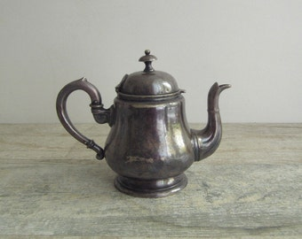 Antique Silverplated Teapot - vintage Austrian metal coffee pot - pitcher - home decor - shabby chic