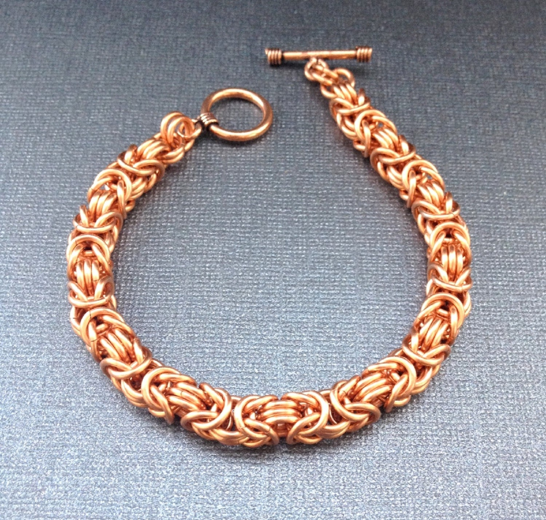 mens jewelry bracelet copper bracelet chunky byzantine. Black Bedroom Furniture Sets. Home Design Ideas