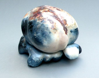 Handmade Ceramic Pit Fired Raku Popcorn Sculpture