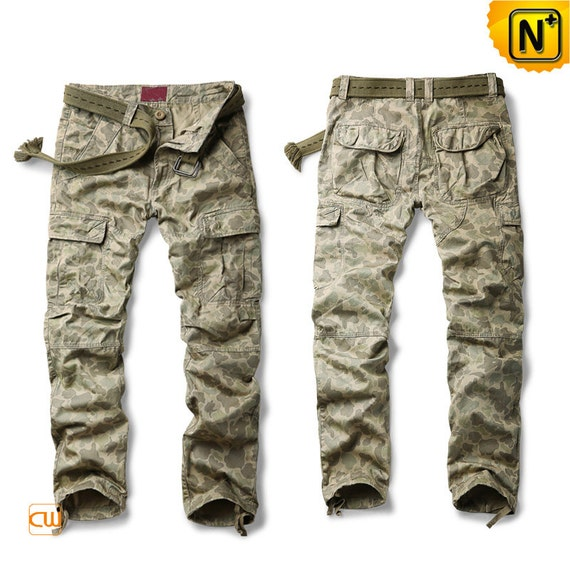 Mens Loose Fit Camouflage Outdoor Cargo Pants CW120202