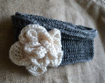 Toddler Cowl Scarf with Flower
