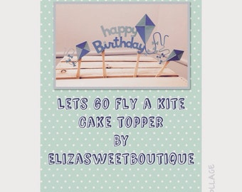 Lets go fly a kite cake topper 3pc