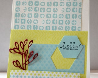 "Card ""Hello sweet friend"""