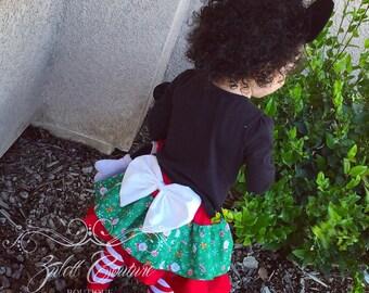 Christmas Ruffle Skirt 100%Cotton