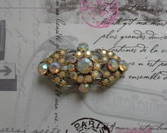 aurora crystal brooch
