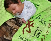 "Memory Camo Blanket for Baby measuring 36"" x 36""."