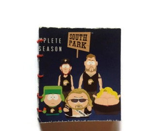 South Park | Mini Journal | DVD Box | Notebook | Hand Stitched | Blank Book | Gift Idea |  Notepad | Sketchbook
