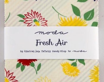 "Fresh Air 5"" Charm Squares  by American Jane for Moda fabrics"