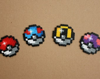 Mini Pokeball Hama Perler Bead Sprite