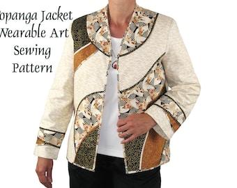 Topanga Jacket Sewing Pattern Wearable Art Jacket Pattern, BSS115