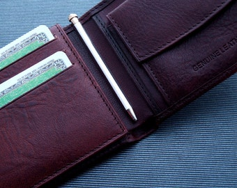 MINI Ballpoint Pen RETRO Wallet Size Solid Sterling Silver Hallmark 925 Handmade in Italy Twist Mechanism