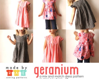 Geranium Dress Pattern from Made by Rae