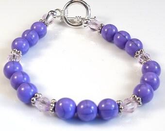 Women's Lavender Beaded Bracelet