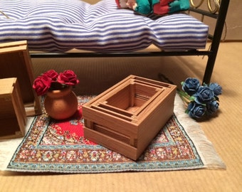 Crates - Cajones. 1:12 scale Dollhouse Miniature