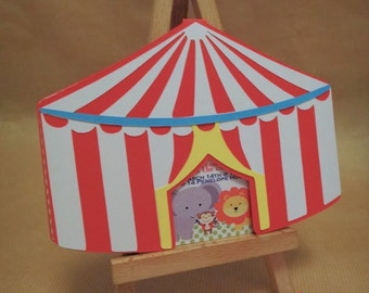 Circus tent party invitations (12)