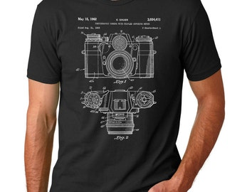 Camera Patent T Shirt, Camera Shirt, Photography Shirt, Camera Art, PP0006 Z1016