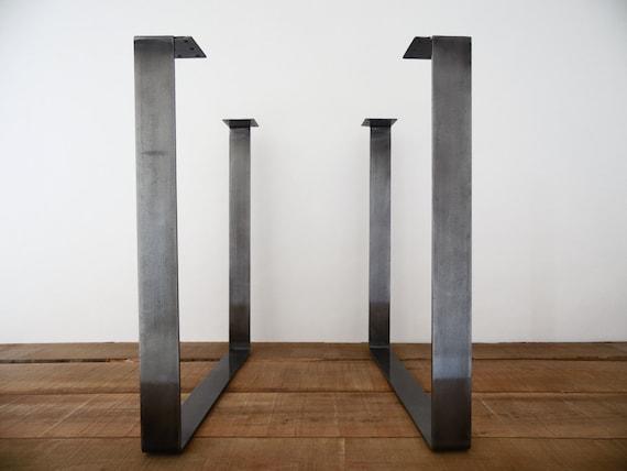 Articoli simili a 28 tavolo gambe gambe tavolo quadrato in acciaio piatto altezza 26 a 30 - Gambe tavolo legno ikea ...