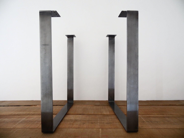 Square metal table legs square tubing steel table legs for Square iron table legs