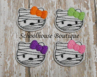 Mummy Kitty Cat felties, felt paper clip, badge reel, felt brooch, felt bookmark, planner clip, felt hair clip, key chain