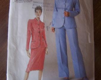 Vogue V7835, Sizes 8-12, Misses/ misses petite jacket, skirt and pants, UNCUT sewing pattern