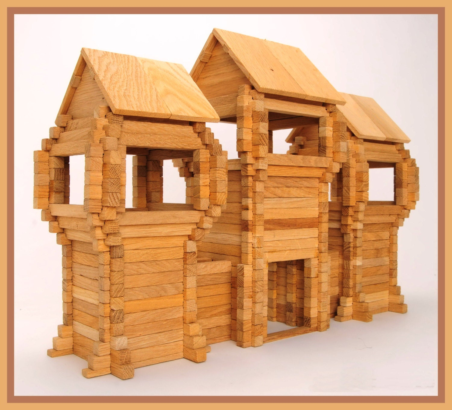 Wooden+Toy+Forts WOOD TOY Fort gate Fortress Kids Wood Blocks par ...