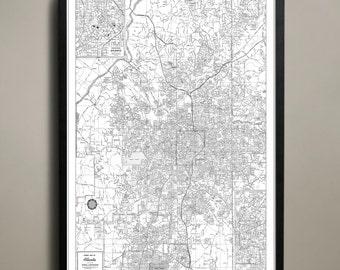 Atlanta City Map - Atlanta City Poster - Atlanta City Print - Atlanta Map - Atlanta Map Print - Atlanta Poster - Map of Atlanta City