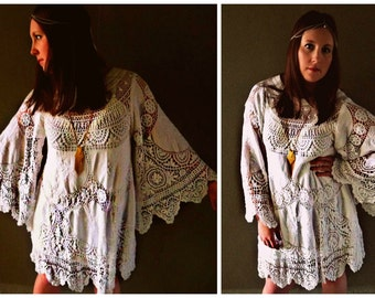 Lacy Clothing For Women Boho Crochet Lace Dress