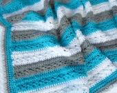 Crochet PATTERN Baby Afghan Blanket - Lakeside Blanket Pattern