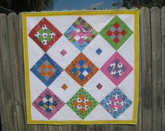 Whimsical baby quilt