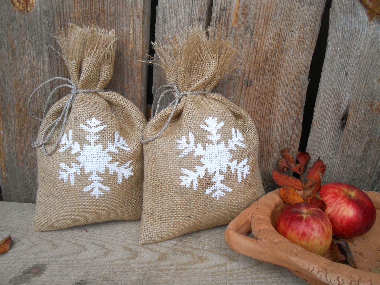 flocons de neige sac cadeau personnalis cadeau sac no l sac. Black Bedroom Furniture Sets. Home Design Ideas