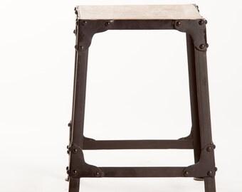 Stool wood metal loft