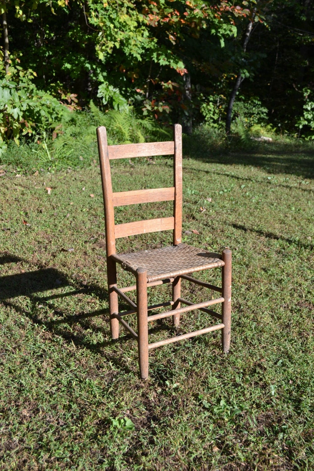 old wooden ladder back chairs vintage antique ladder back wooden chair woven seat primitive 7165
