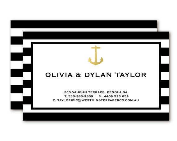 Black And White Calling Card Calling Cards Black White