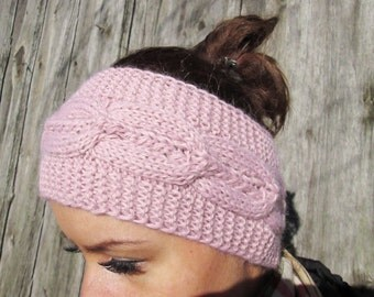 BLACK FRIDAY SALE! Ready to ship! Headband, knitting Headband Bun Earwarmer Head Wraplight purple, Hat Girly Romantic, purple headband