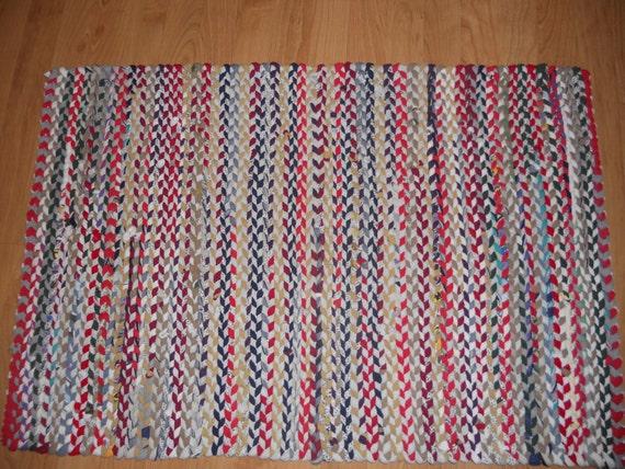 Braided Rag Rug From T Shirts By Riversedgestitchery On Etsy
