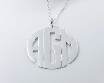 Handmade Block Monogram Pendant (ZC90843) SS