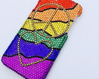 Peace and love bling case / iPhone 6 bling case