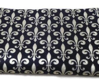 Feutre tissu printed felt fabric sheets Le fleur de lis french lily flower