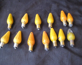 Collection of antique light bulbs, Christmas light bulbs, vintage light bulbs
