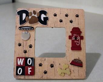Dog/Woof/Pet/Canine/Bone/ Pet/ Picture frame