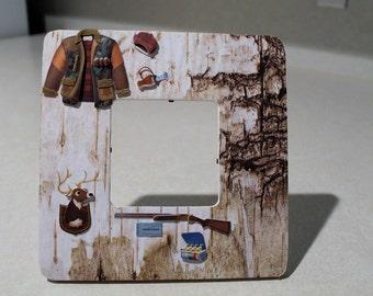 Hunter/ Hunting/ Deer/ Rifle /Trophy/ 3D sticker/ Husband/ Sport/ Gift/Frame