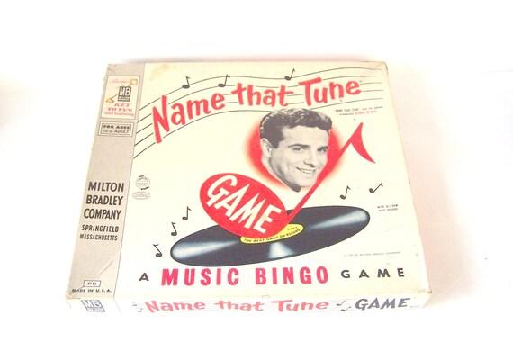 Name That Tune: 1957 Name That Tune Board Game Milton Bradley 50s Vintage