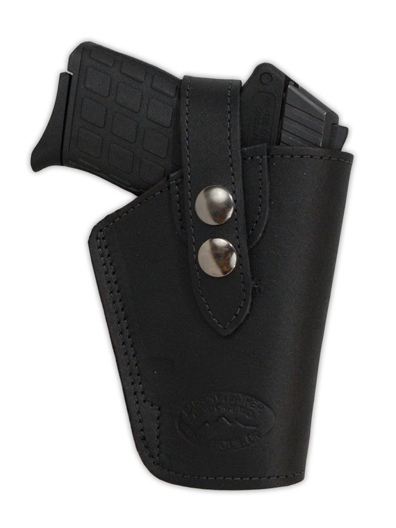 new black leather owb belt gun holster for 380 ultra compact