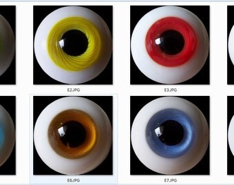 E series  ( Doll Eyes: 6mm to 20mm )-->8.38 USA dollar/per pair