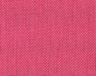 """58"""" Faux Burlap - Pink Flambe by the Yard (Polyester)"""