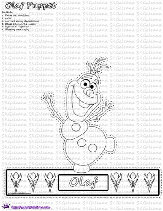 Instant Download Printable Frozen Inspired Olaf By SKGaleana