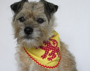 Lion Rampant dogs fabric bandana size M Made to Order only