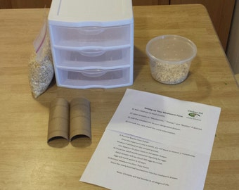 DIY Mealworm Farm Kit (Instructions Only)
