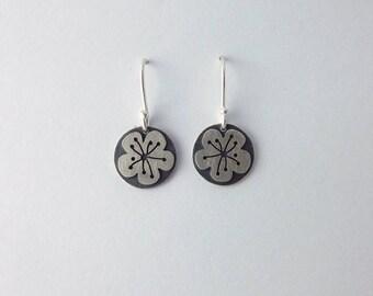 Handmade Silver Rowan Blossom Earring Drop Earrings.